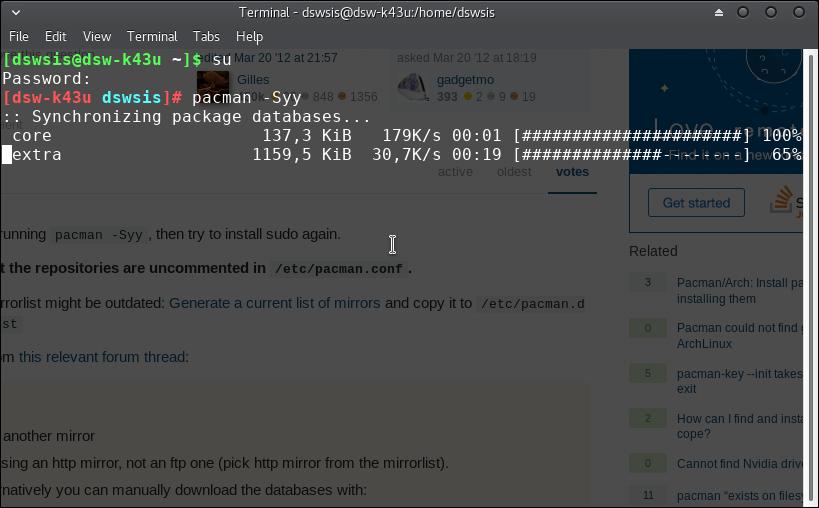 manjaro/arch linux : beginning pacman – DSWSIS : DATA BIT